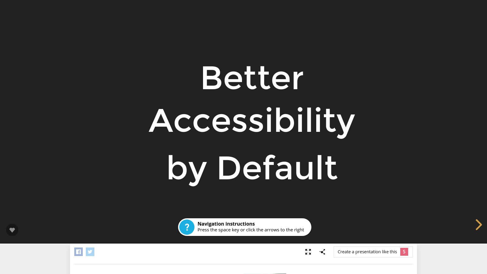 Better Accessibility By Default
