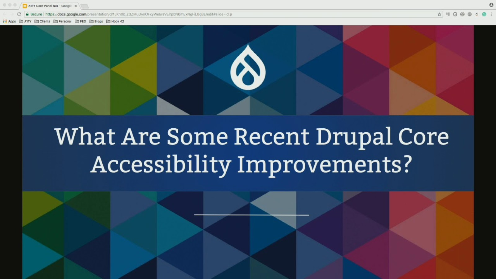 Core Accessibility: Building Inclusivity into the Drupal Project