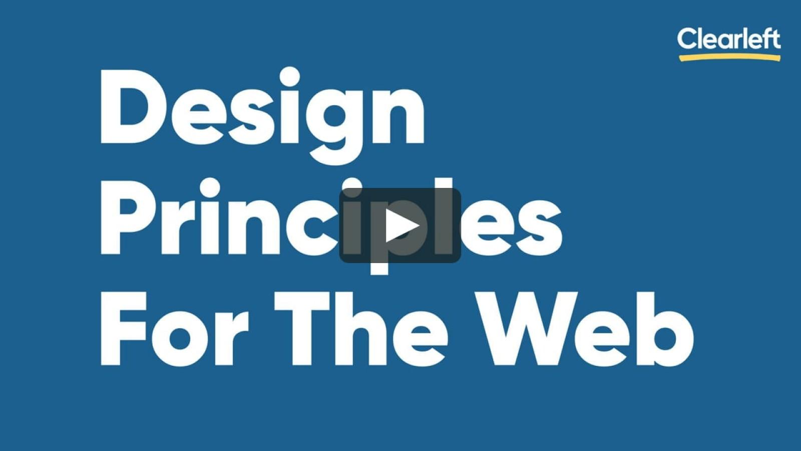 Design Principles For The Web
