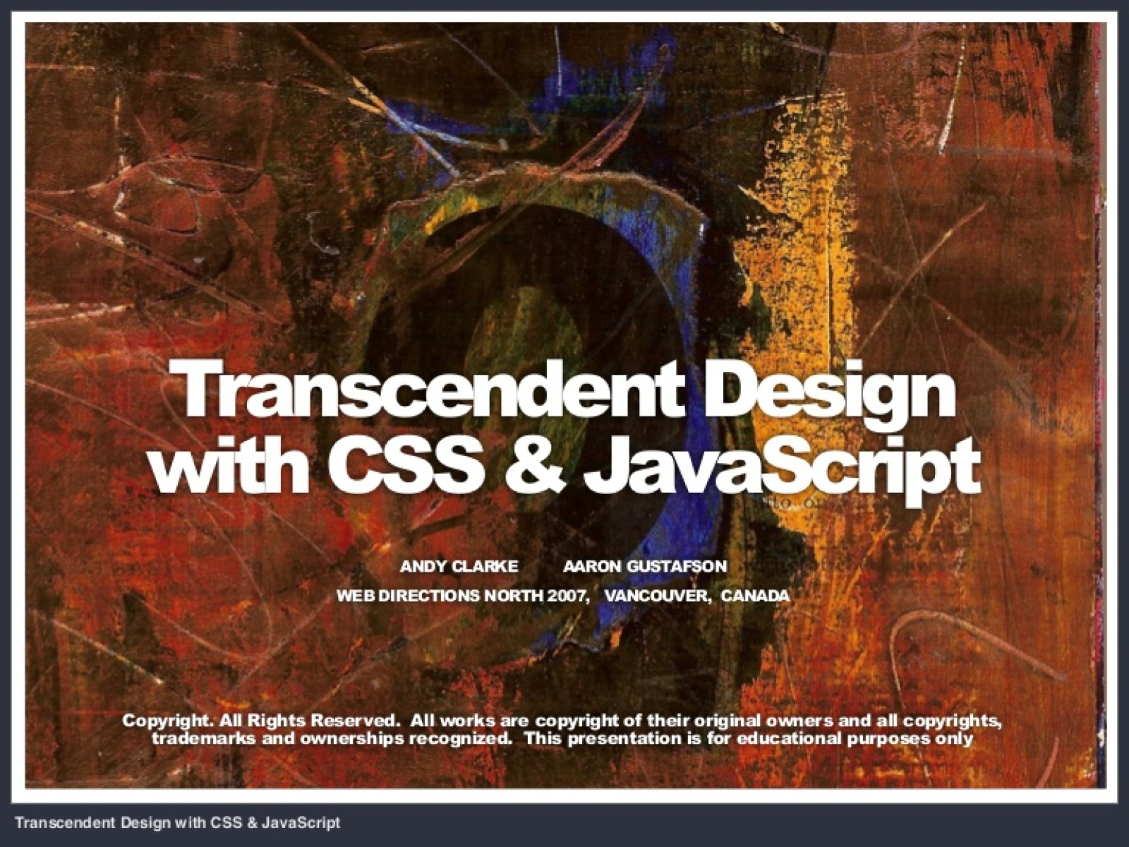 Transcendent Design with CSS & JavaScript