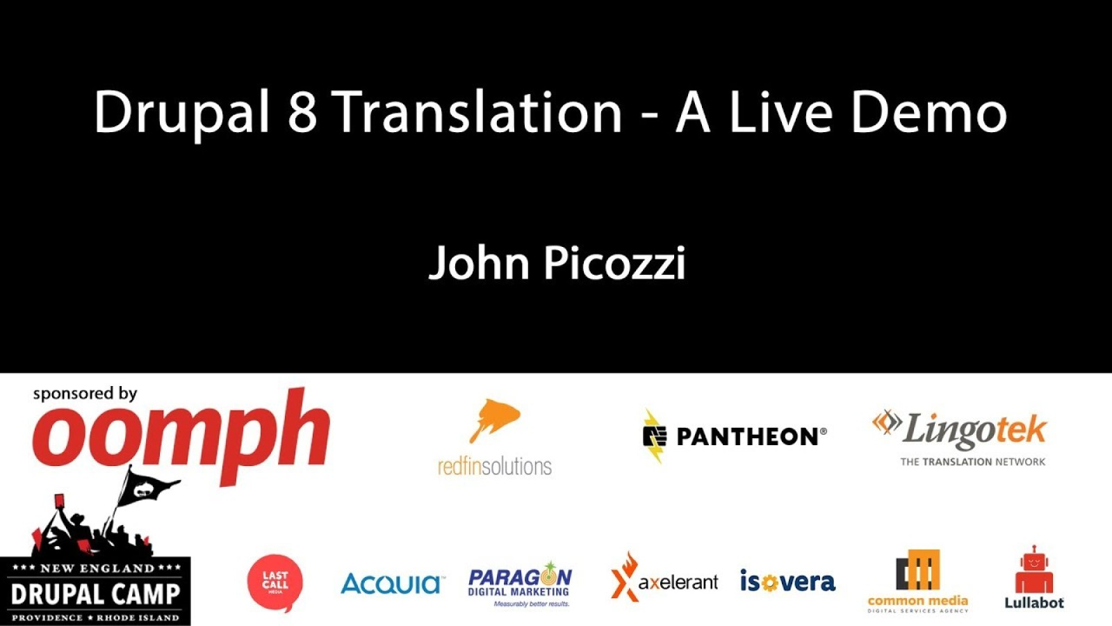 Drupal 8 Translation - A Live Demo
