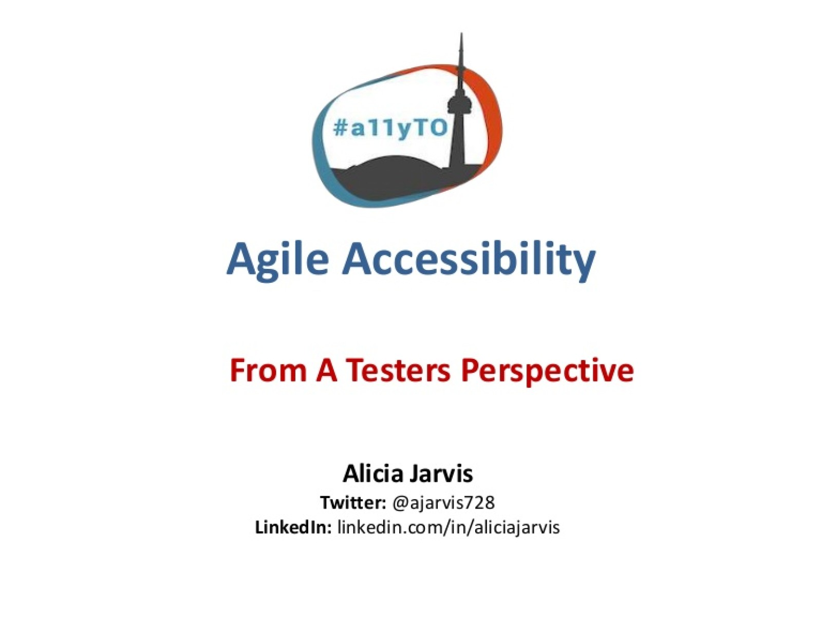 Agile Accessibility From a Testers Perspective