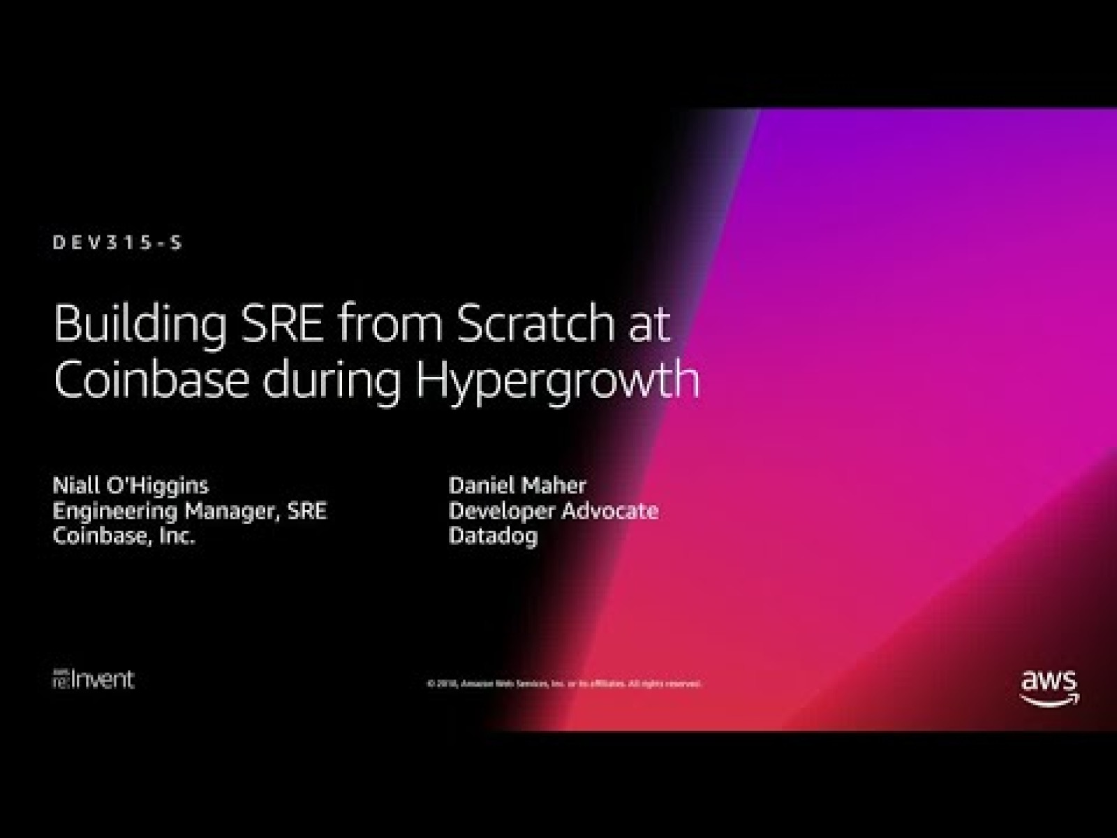 Building SRE from Scratch at Coinbase during Hypergrowth