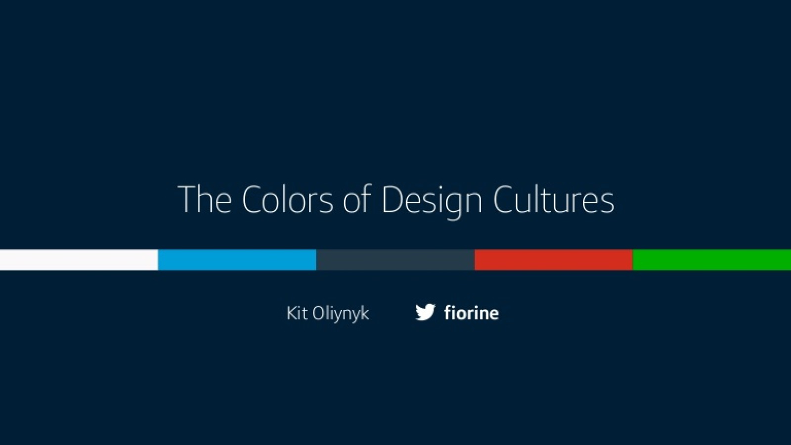The Colors of Design Cultures