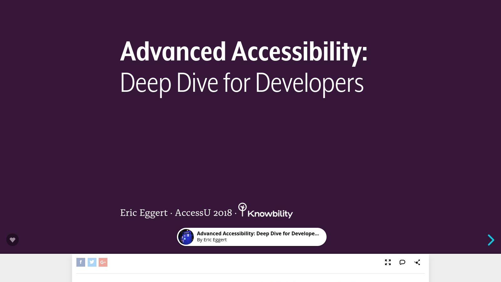 Advanced Accessibility: Deep Dive for Developers