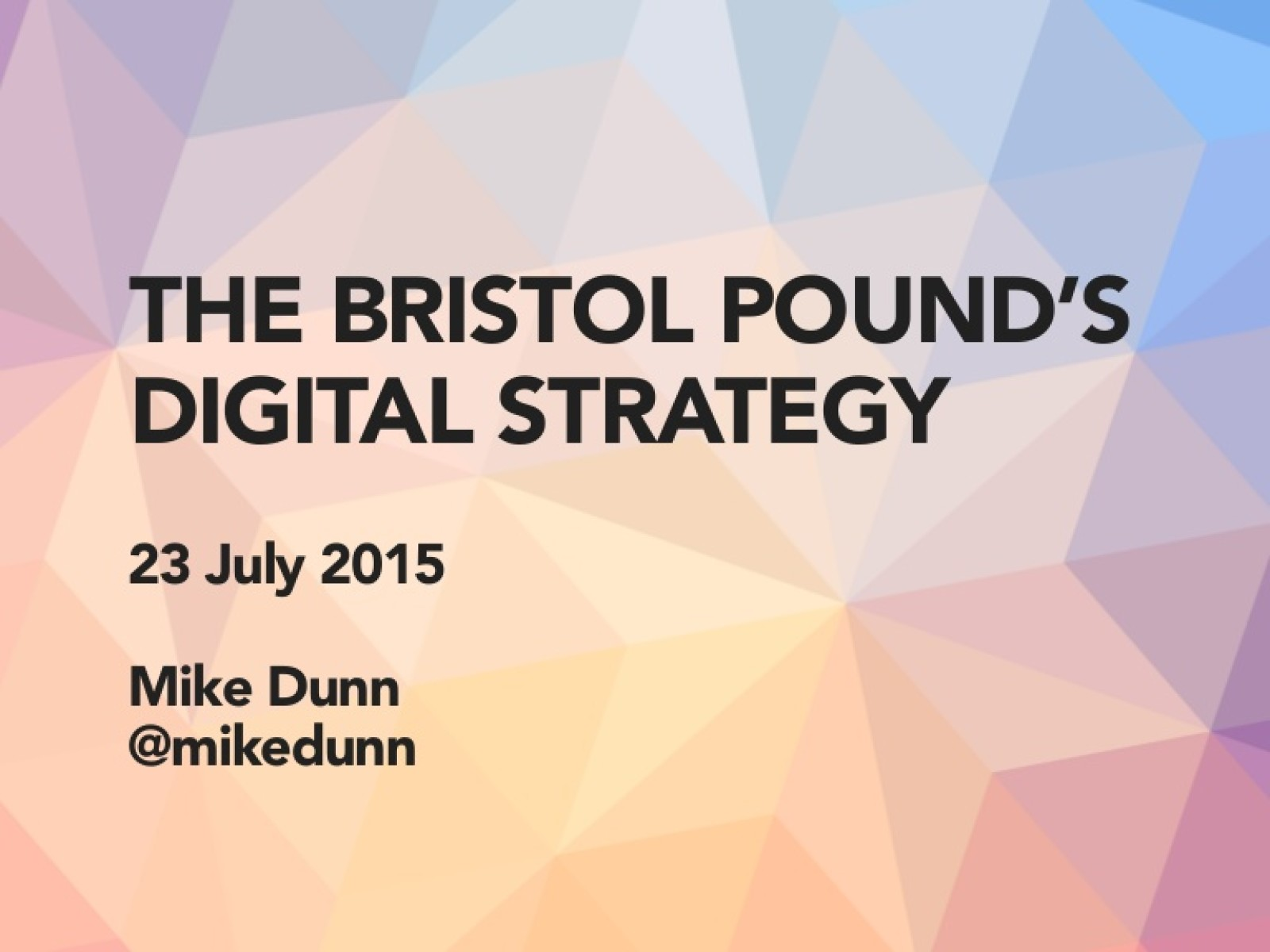 Bristol Pound: user research on a limited budget