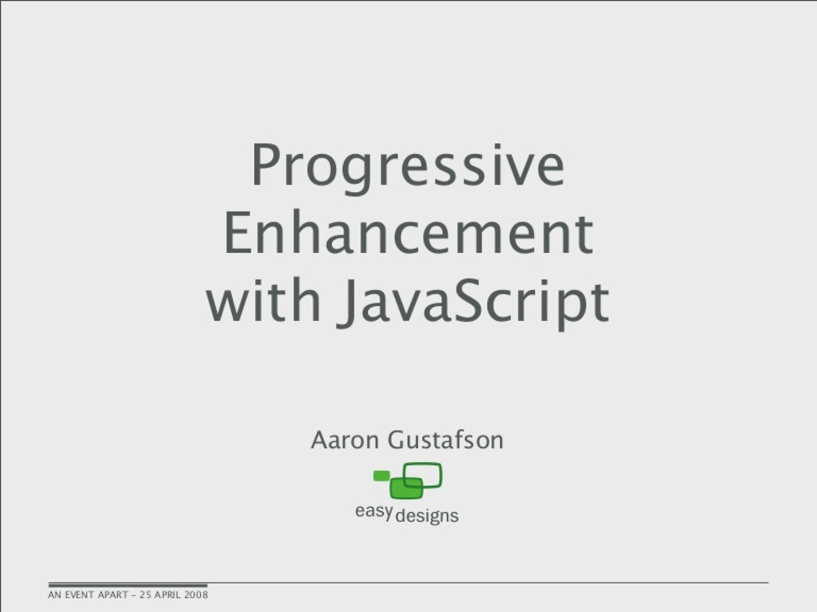 Progressive Enhancement with JavaScript