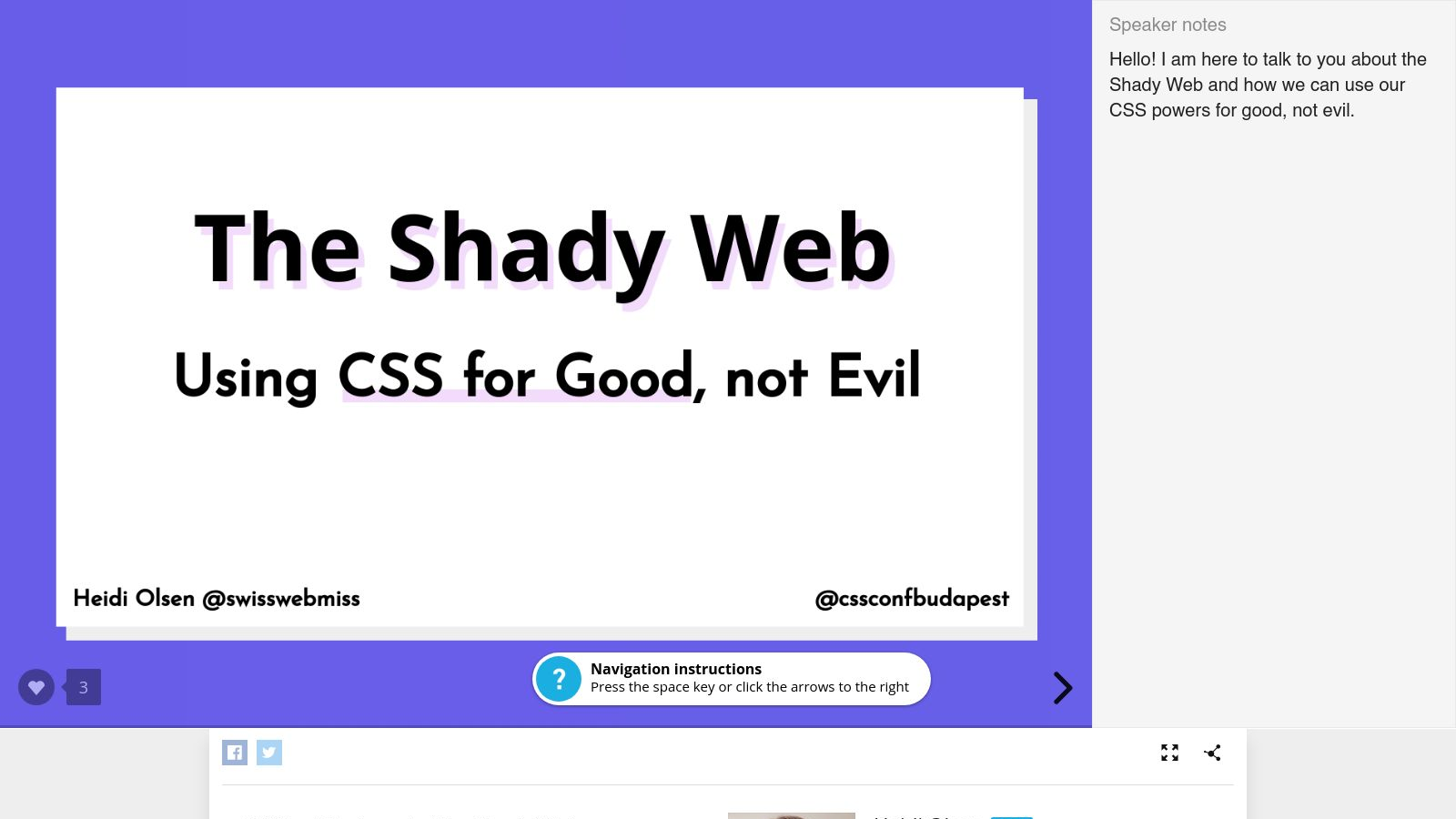 The Shady Web: Using CSS for Good, not Evil