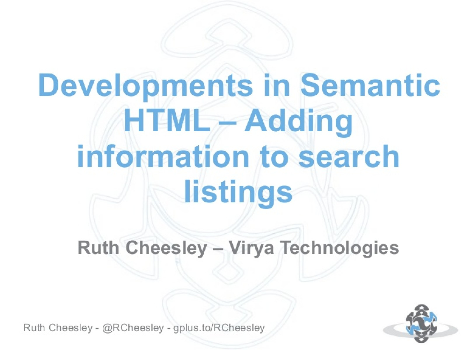 Developments in semantic HTML - adding information to search listings