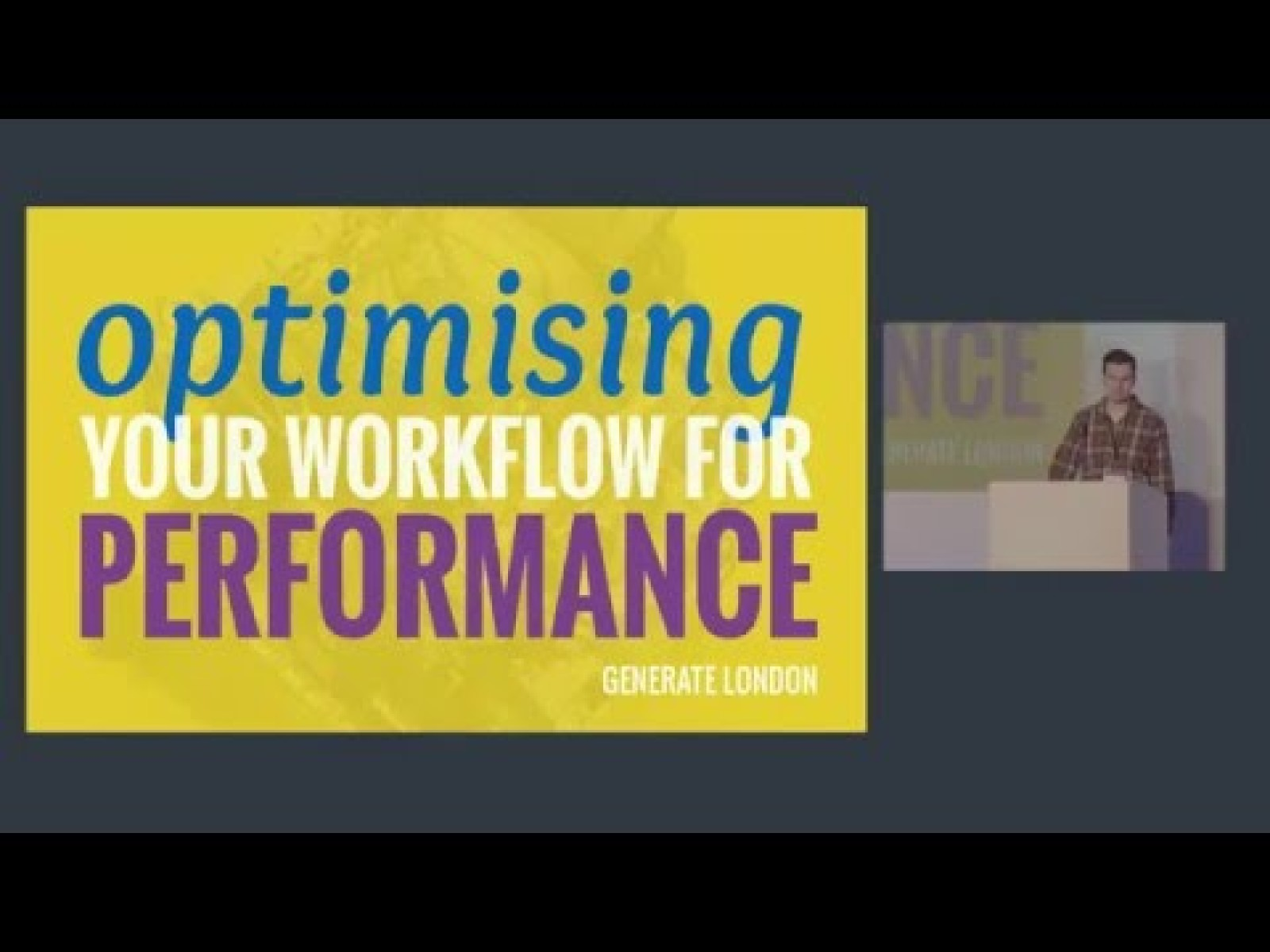 Optimising your workflow for performance