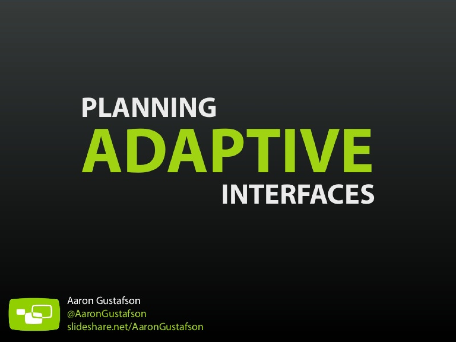 Planning Adaptive Interfaces [Workshop]