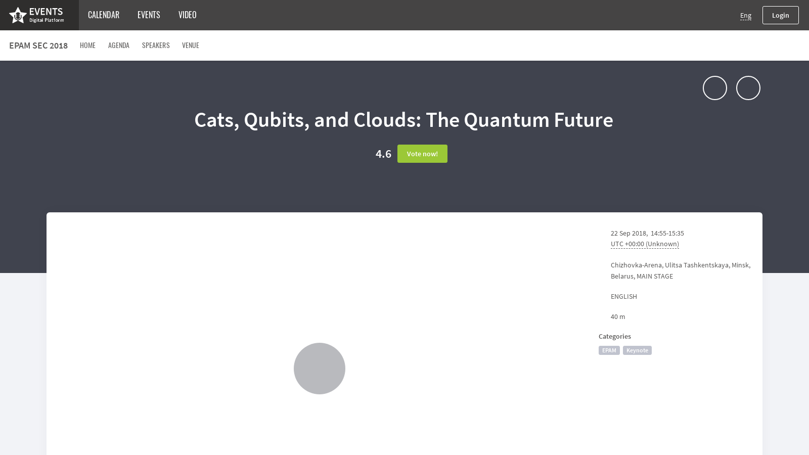 Cats, Qubits, and Clouds - 