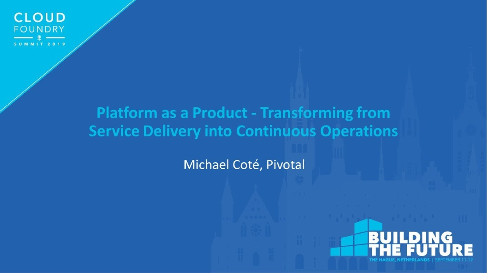 Platform as a Product - Transforming from Service Delivery into Continuous Operations