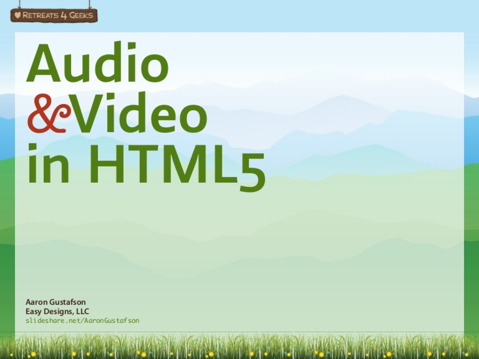 HTML5 Audio & Video [Workshop]