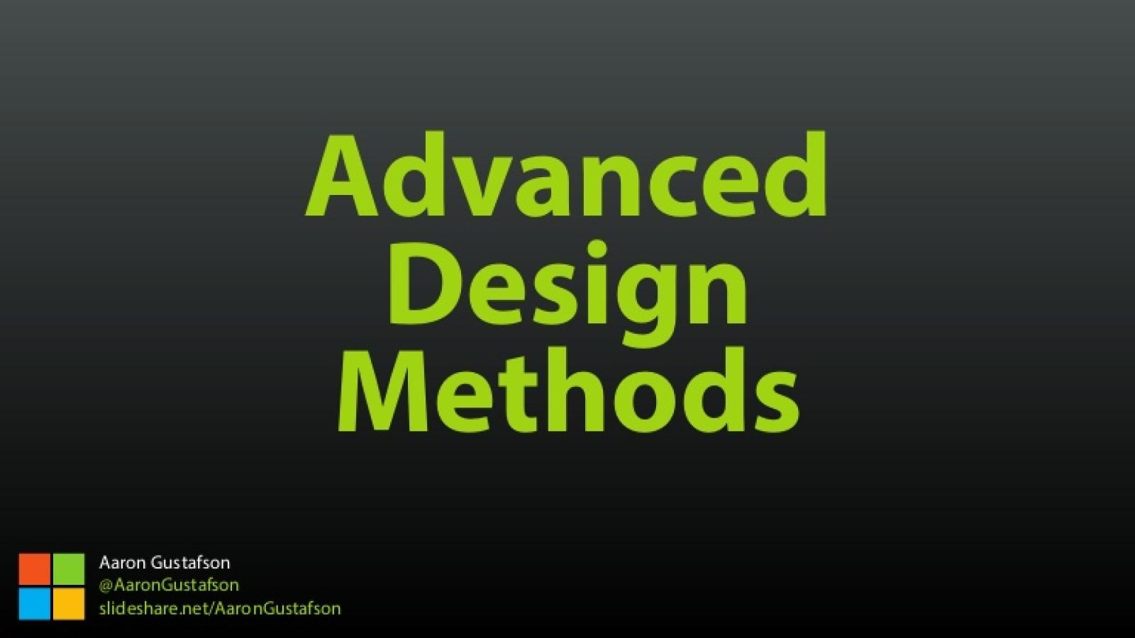 Advanced Design Methods [Workshop]