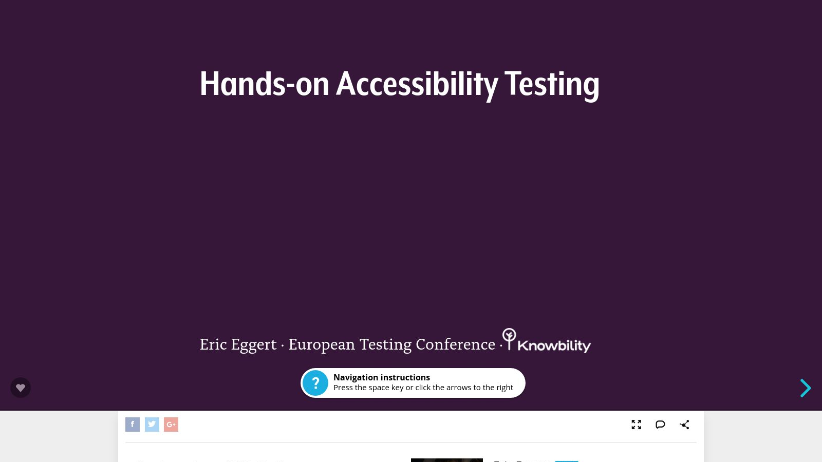 Practical Hands-On Accessibility Testing (Thursday)