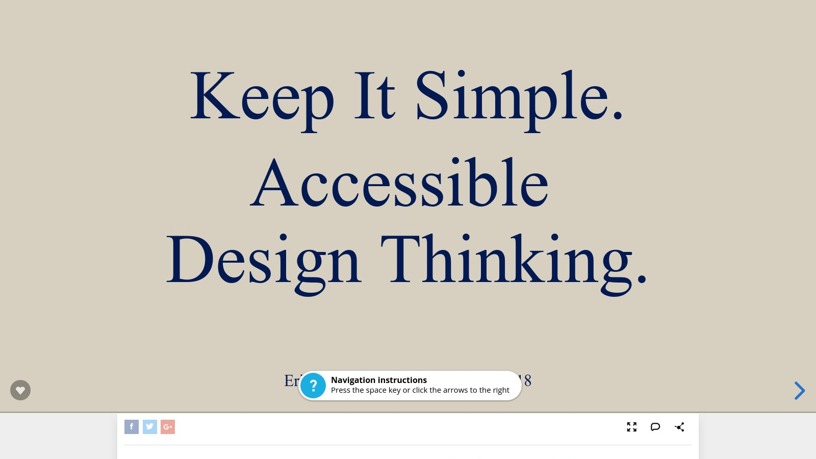 Keep it Simple. Accessible Design Thinking