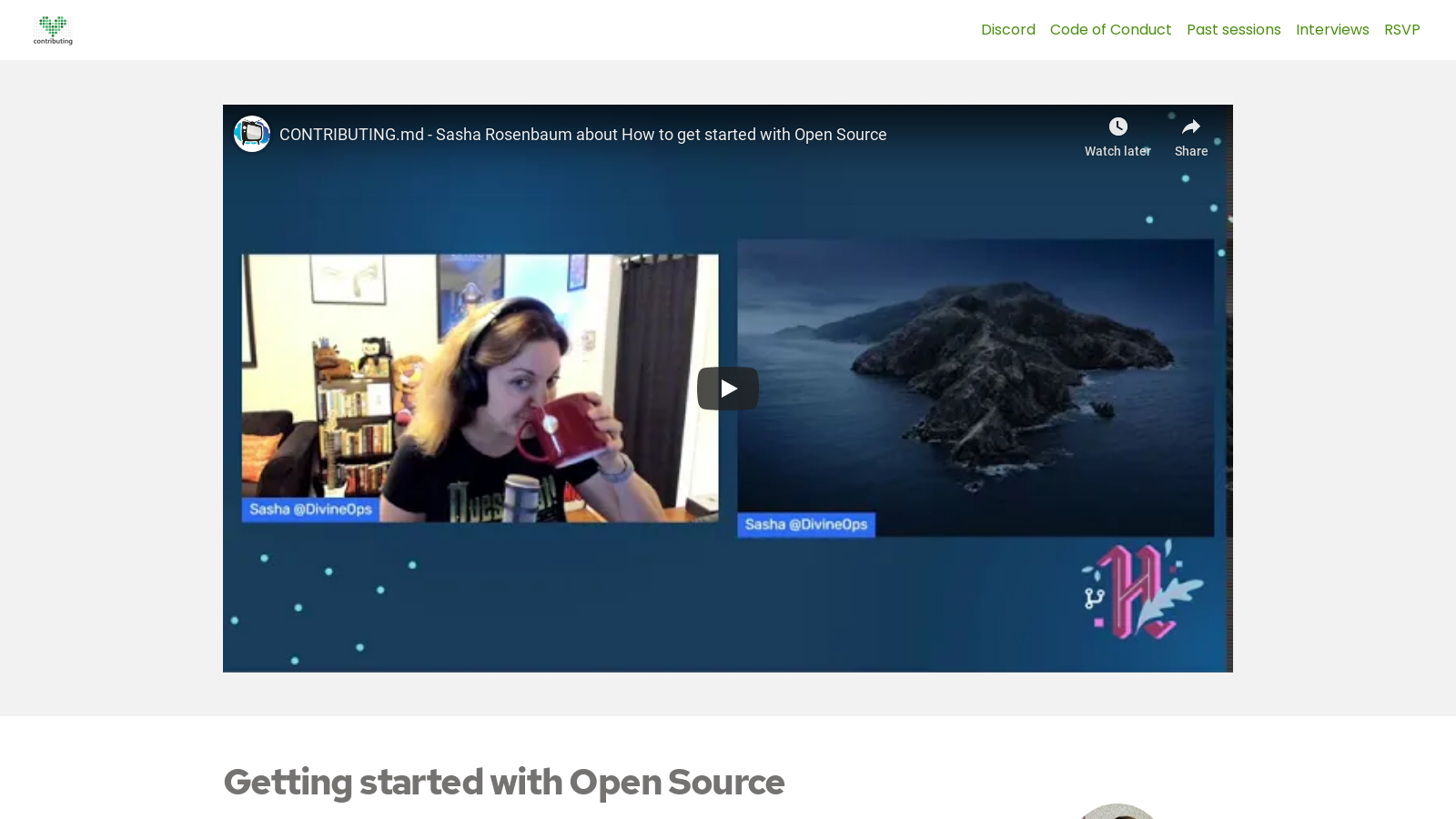 Getting started with Open Source