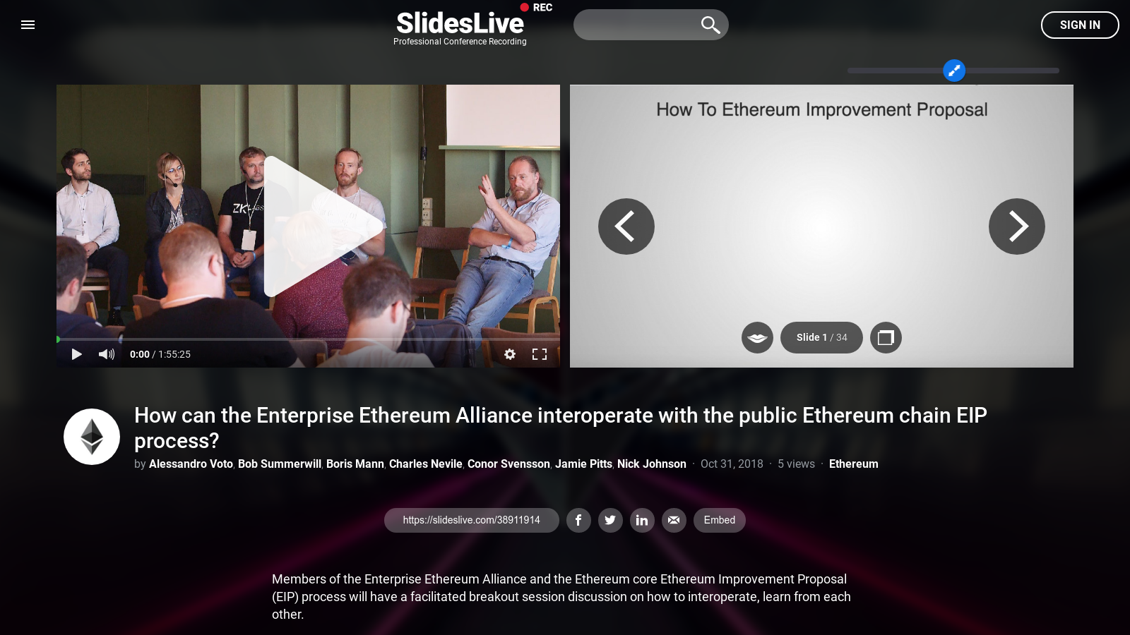 How can the Enterprise Ethereum Alliance interoperate with the public Ethereum chain EIP process?