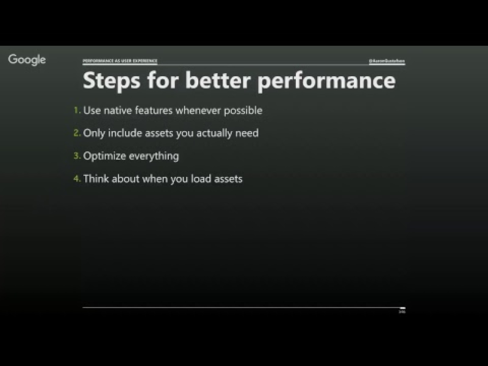 Better performance == greater accessibility