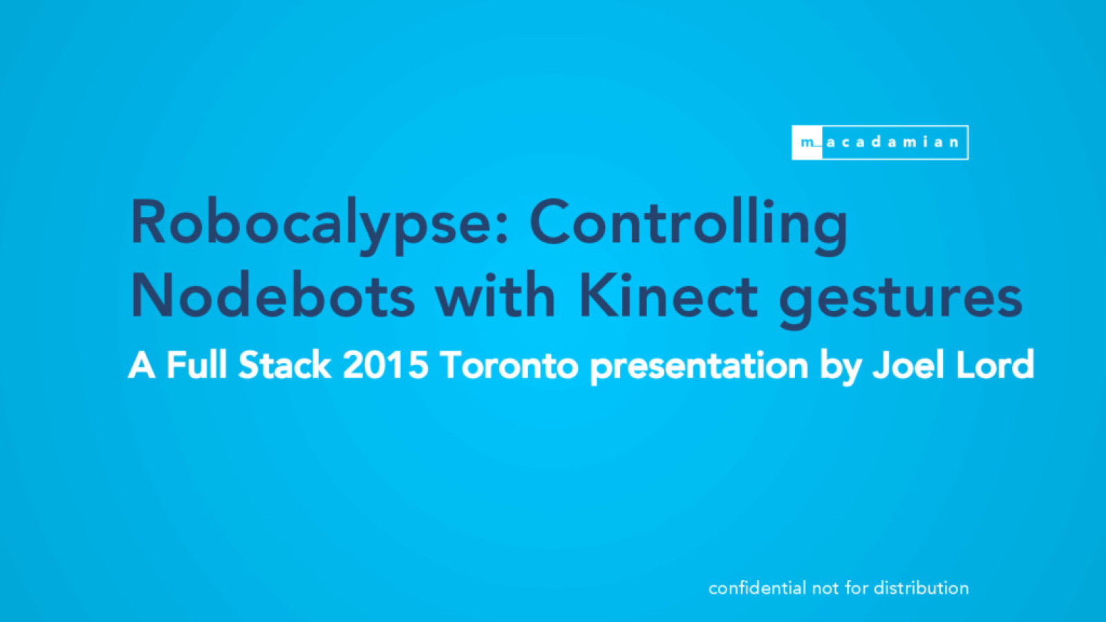 Robocalypse: Controlling robots with kinect gestures