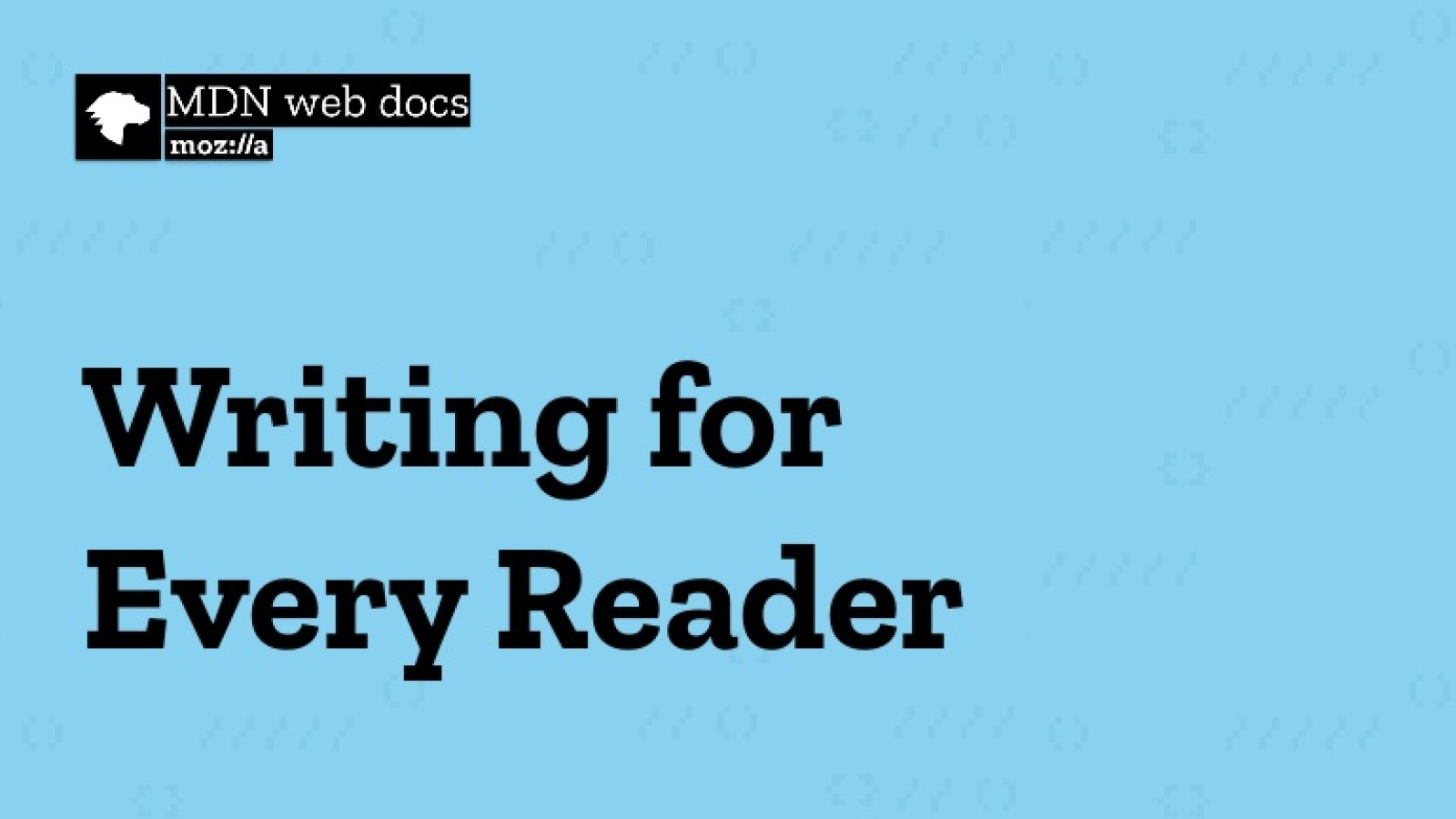 Writing for Every Reader