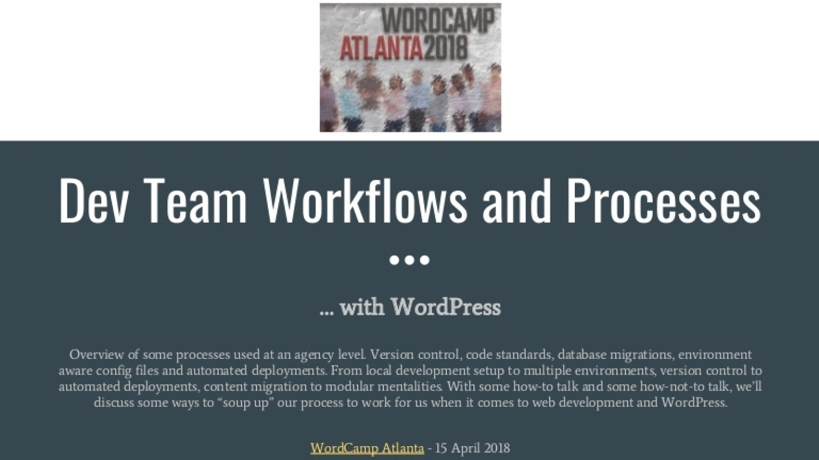 Dev Team Workflow and Processes With WordPress
