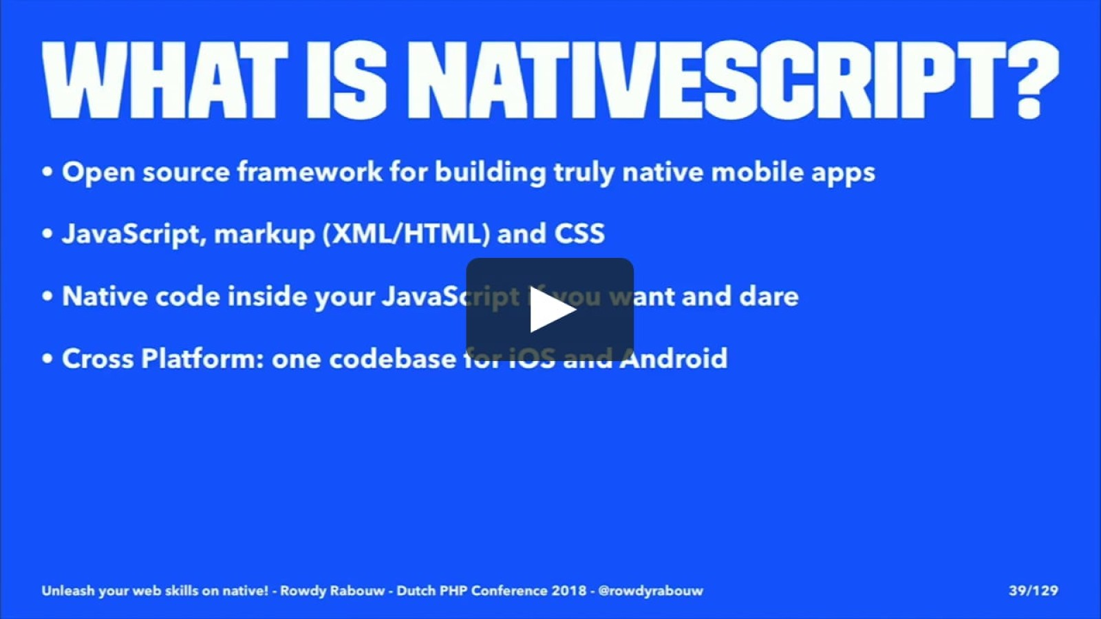 Unleash your web skills on native!