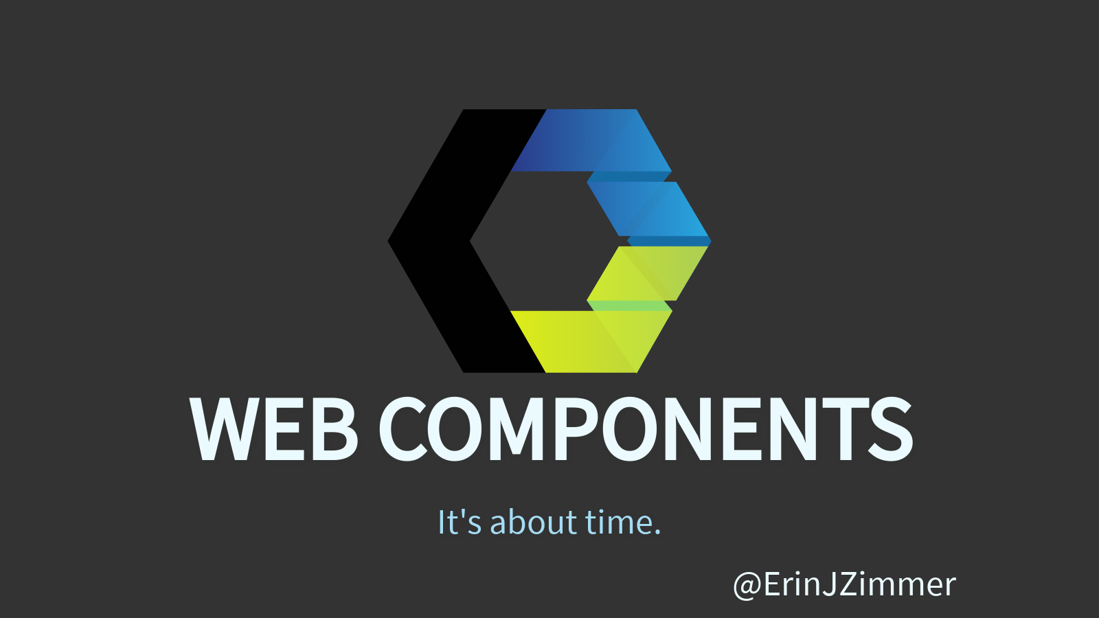 Web Components. It's about time.