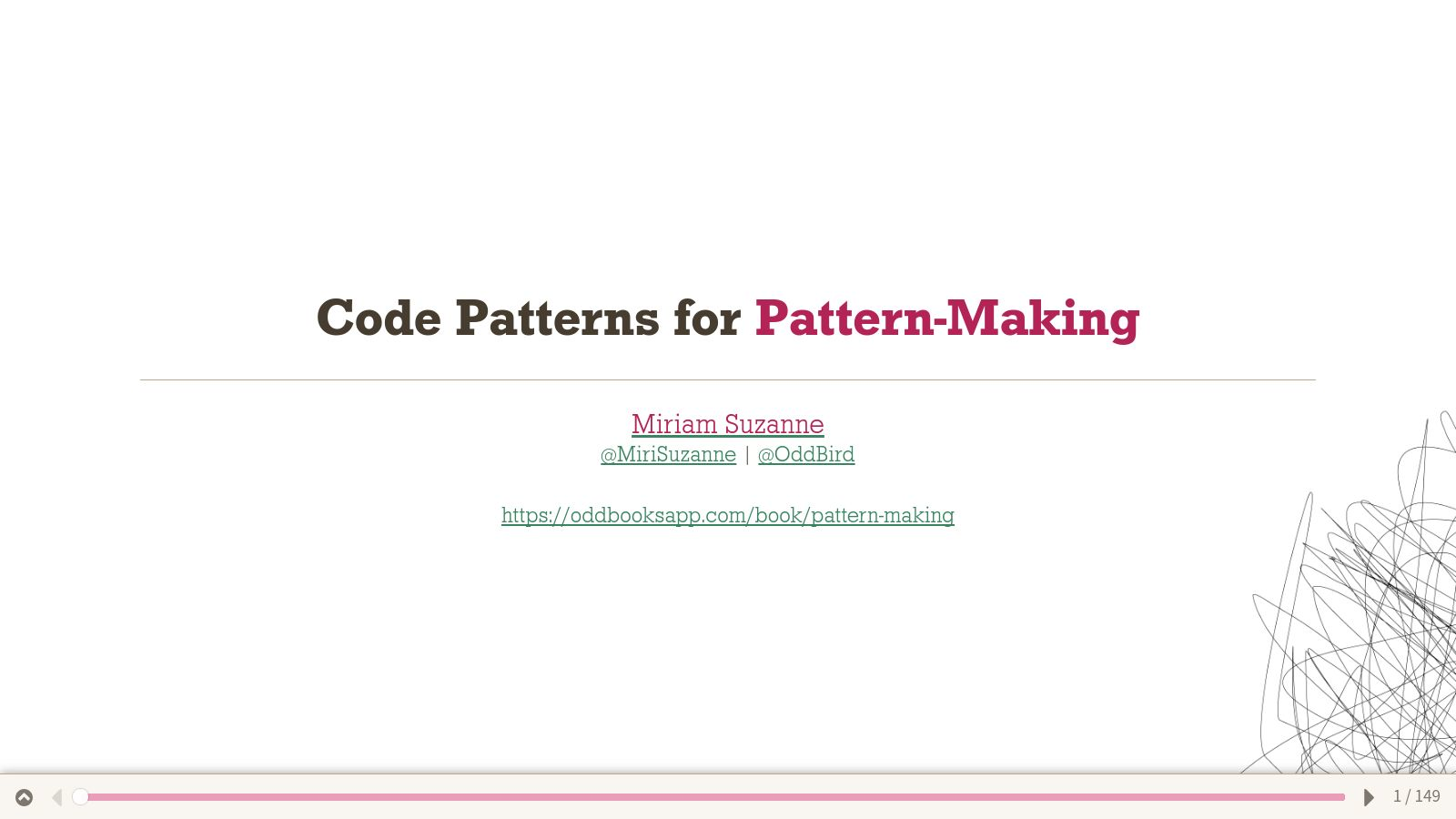 Code Patterns for Pattern Making