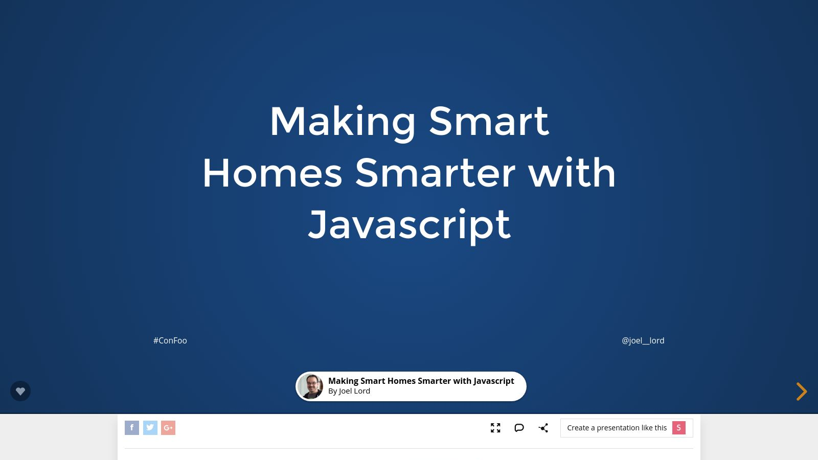 Smart homes made smarter with Javascript