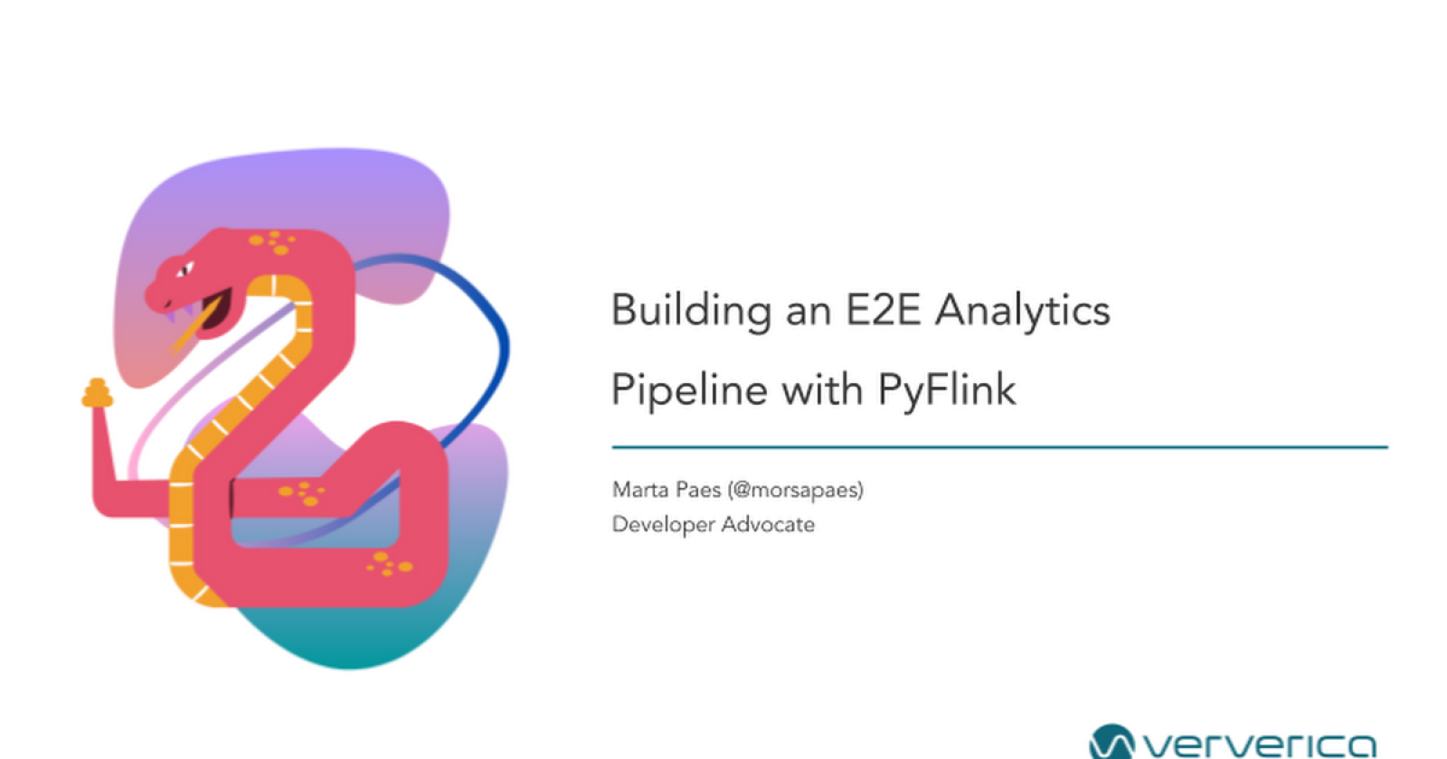 Building an End-to-End Analytics Pipeline with PyFlink by Marta Paes