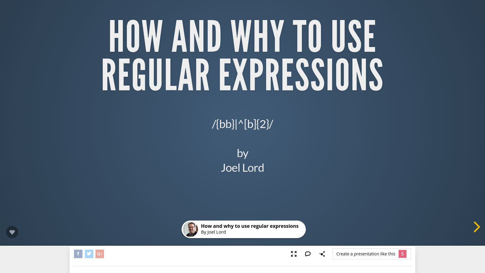 How and Why To Use Regular Expressions