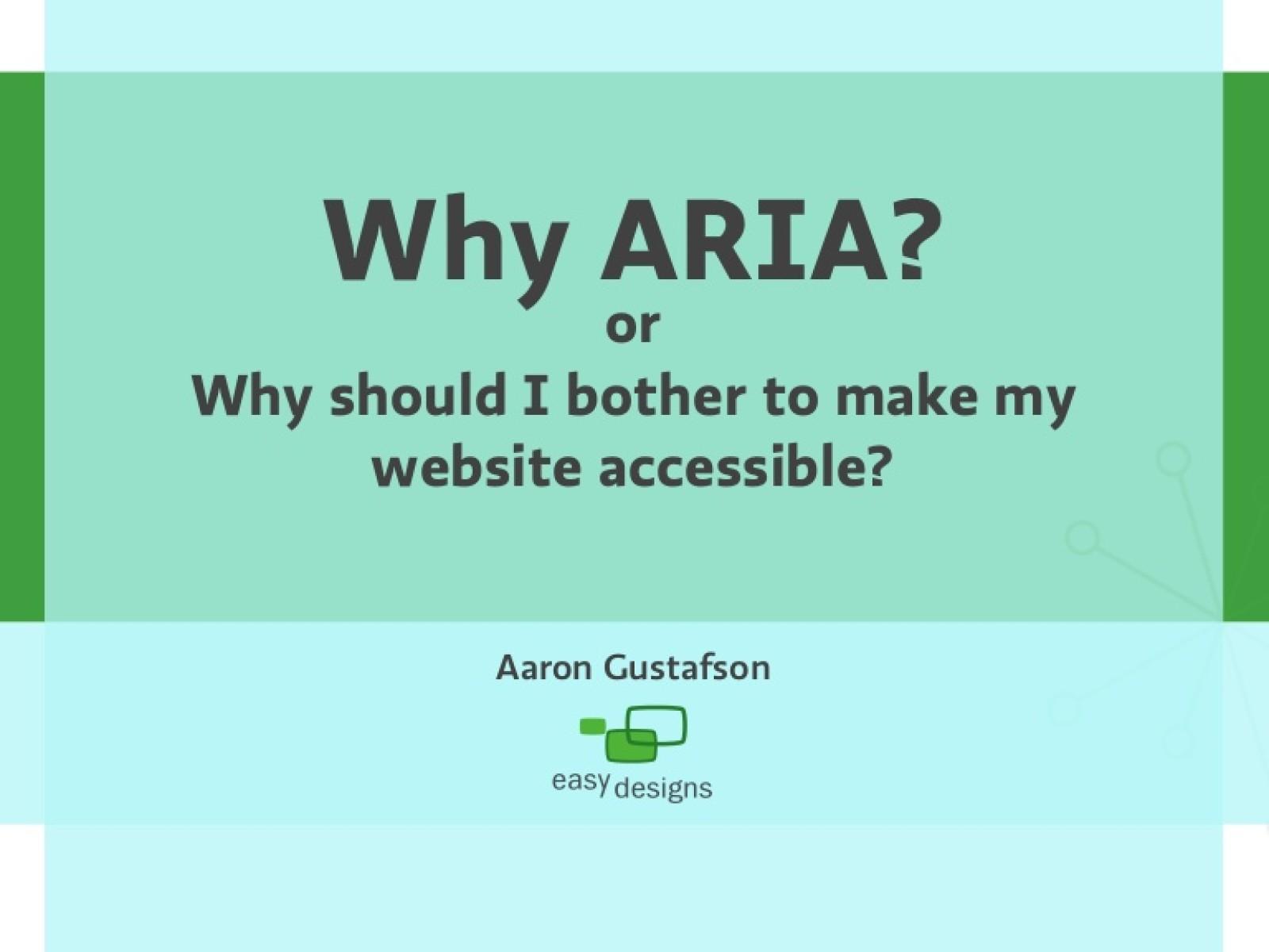 Why ARIA?