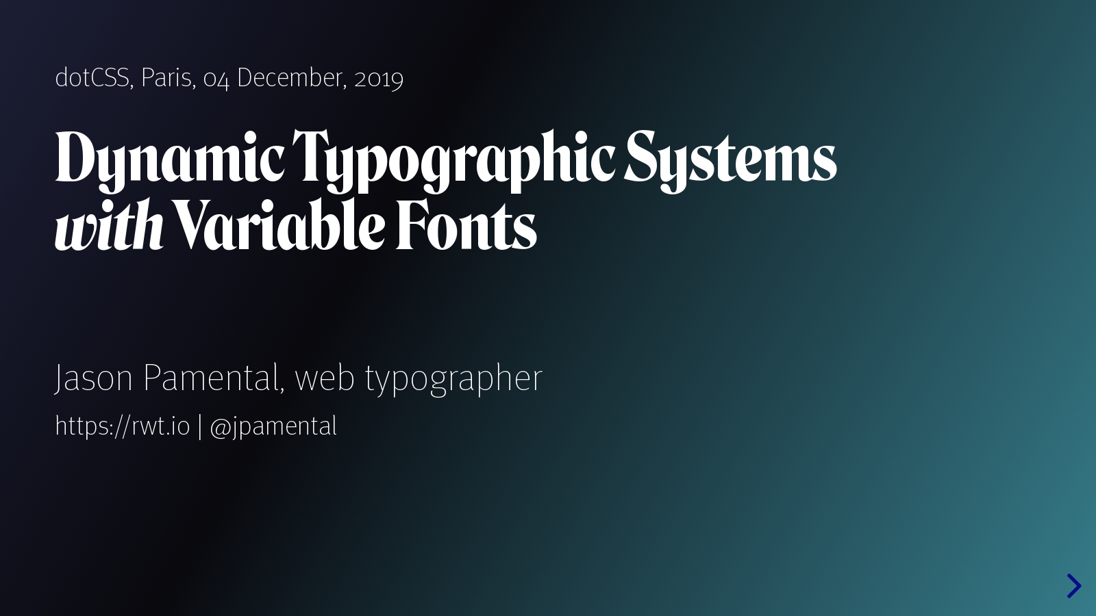 Dynamic Typographic Systems with Variable Fonts