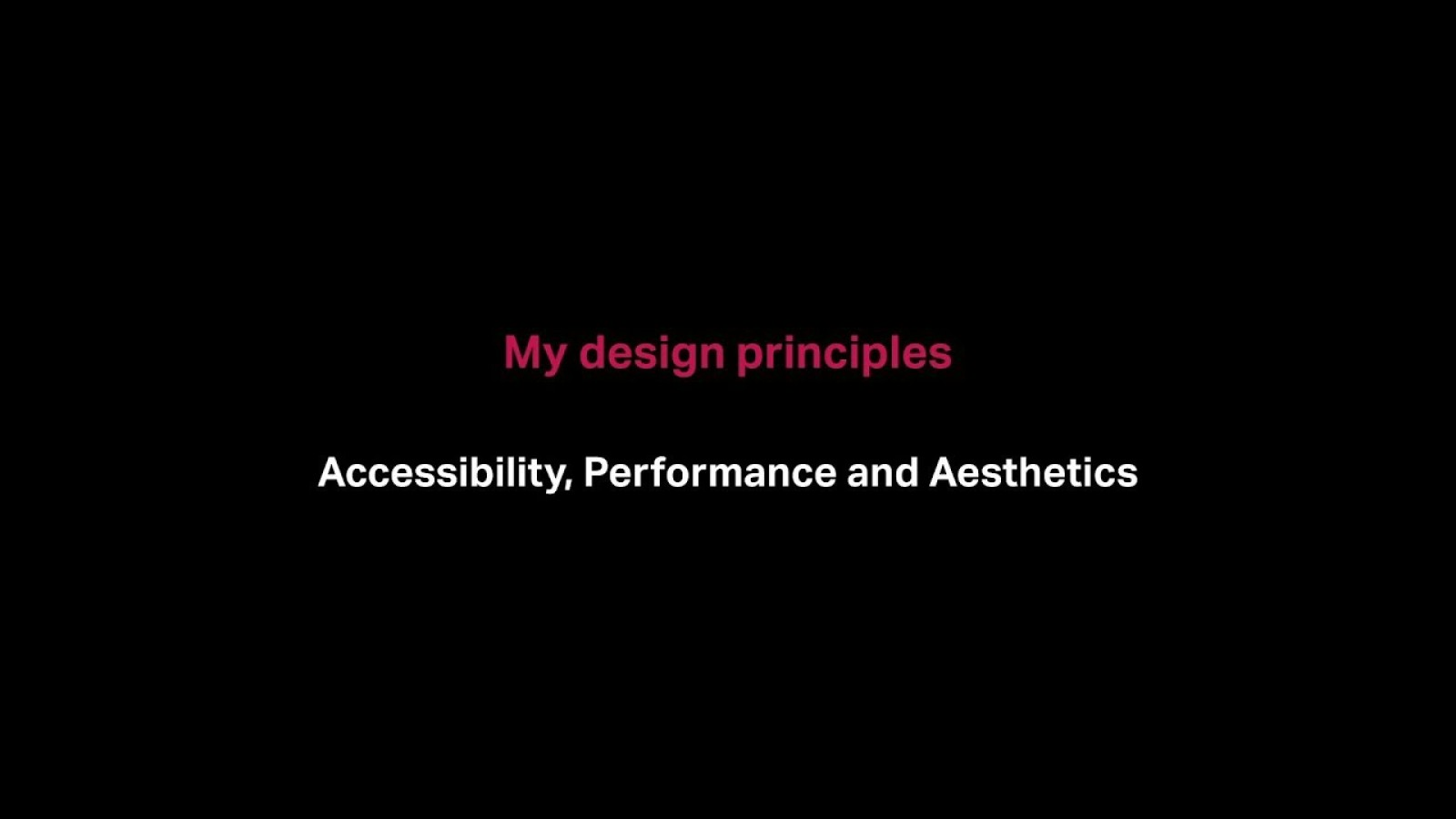 Web Design Accessibility, Performance and Aesthetics