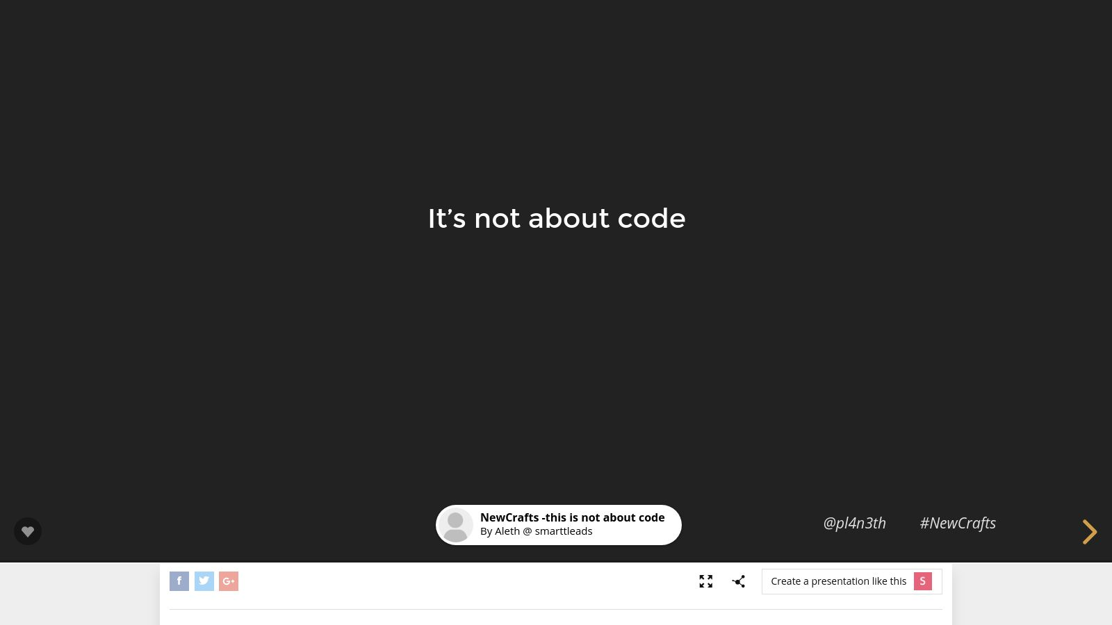 This is not about code