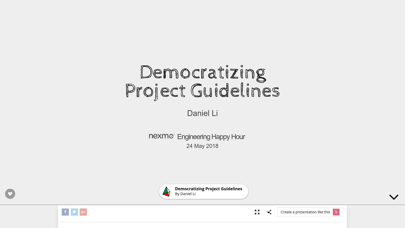 Democratizing Project Guidelines