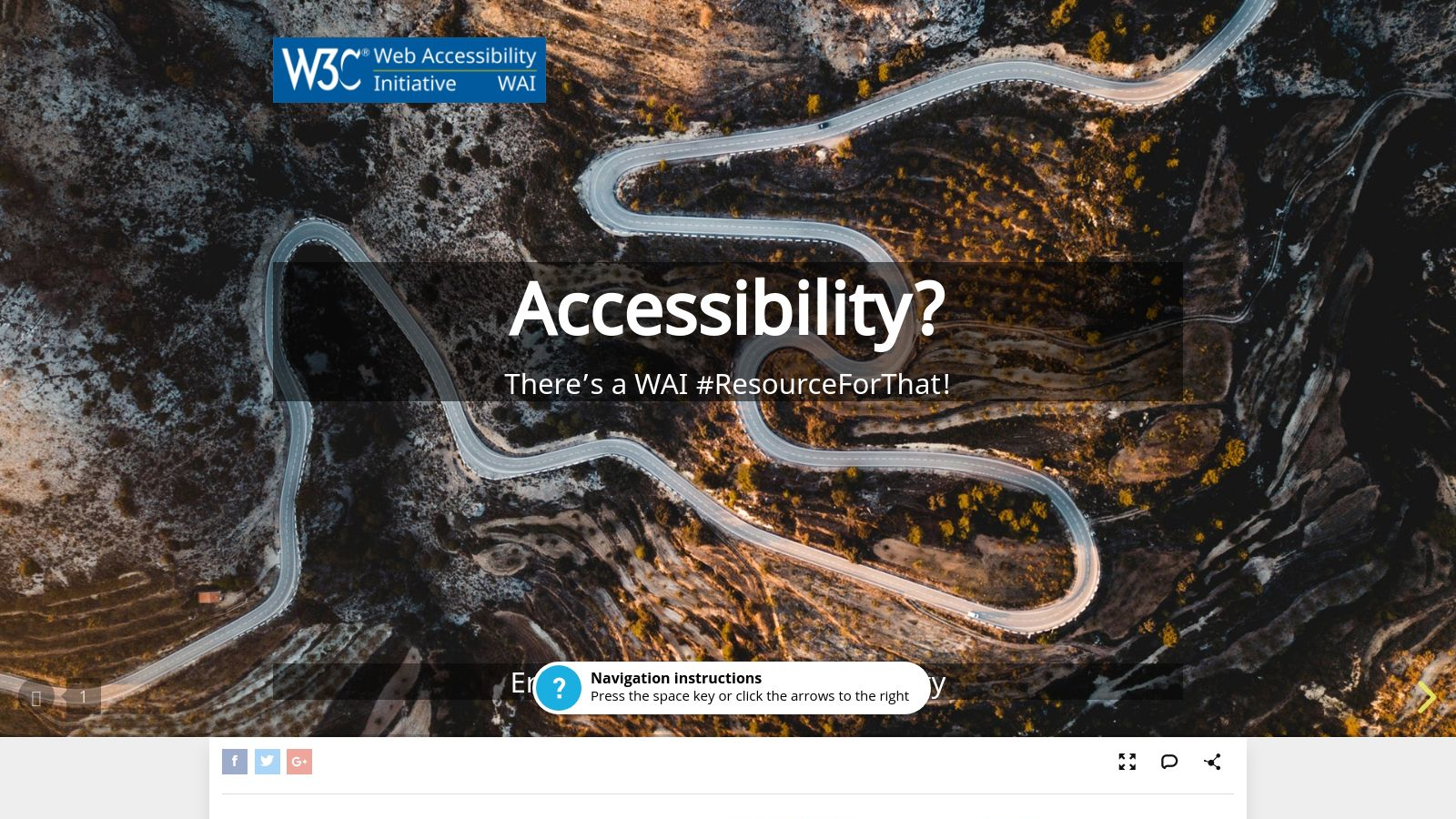 Accessibility? There's a WAI #ResourceForThat!