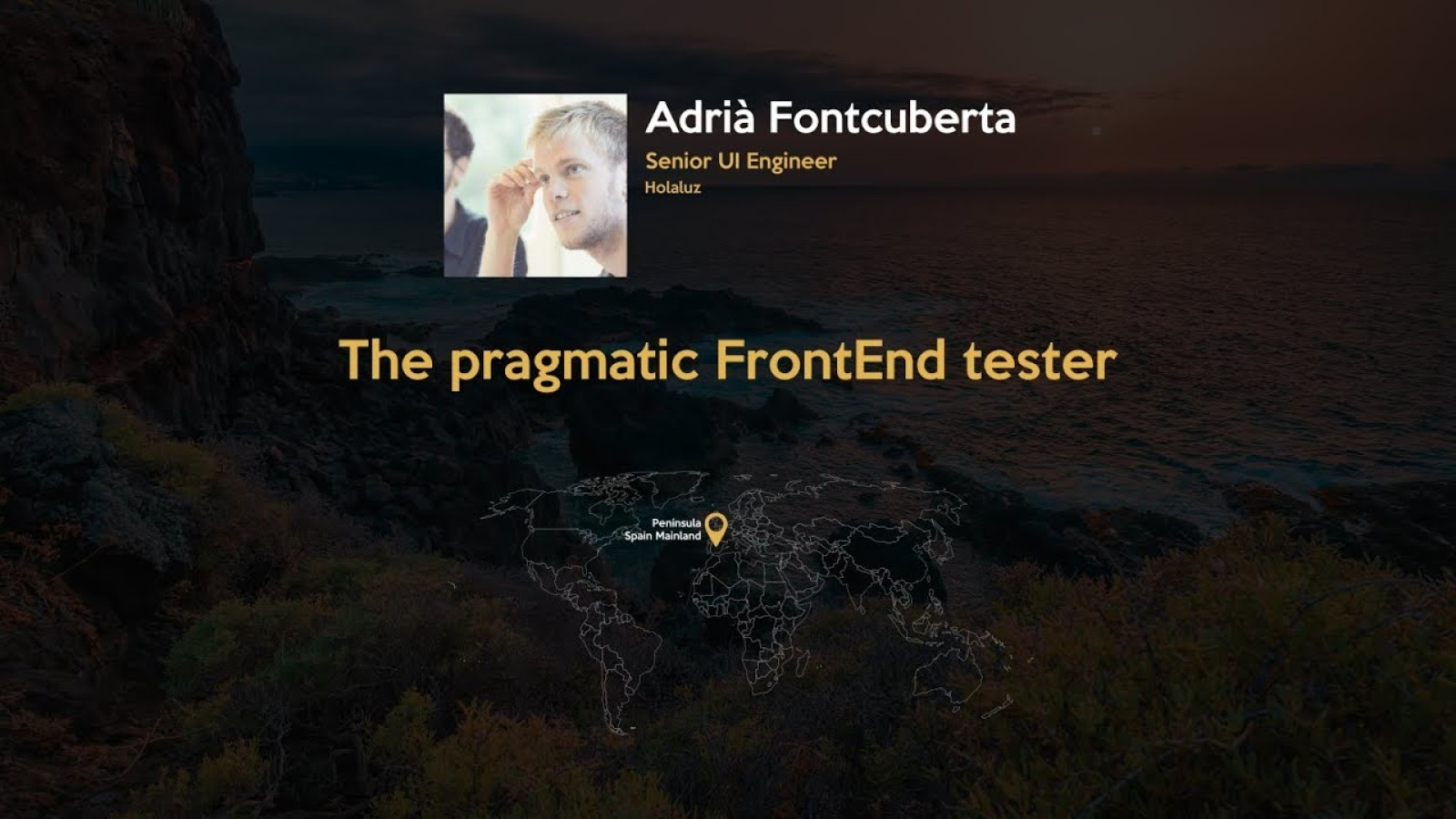 The pragmatic front-end tester