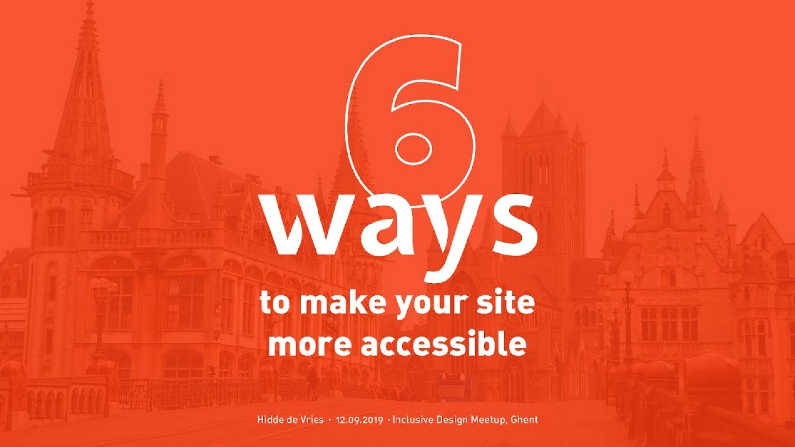 Six ways to make your site more accessible