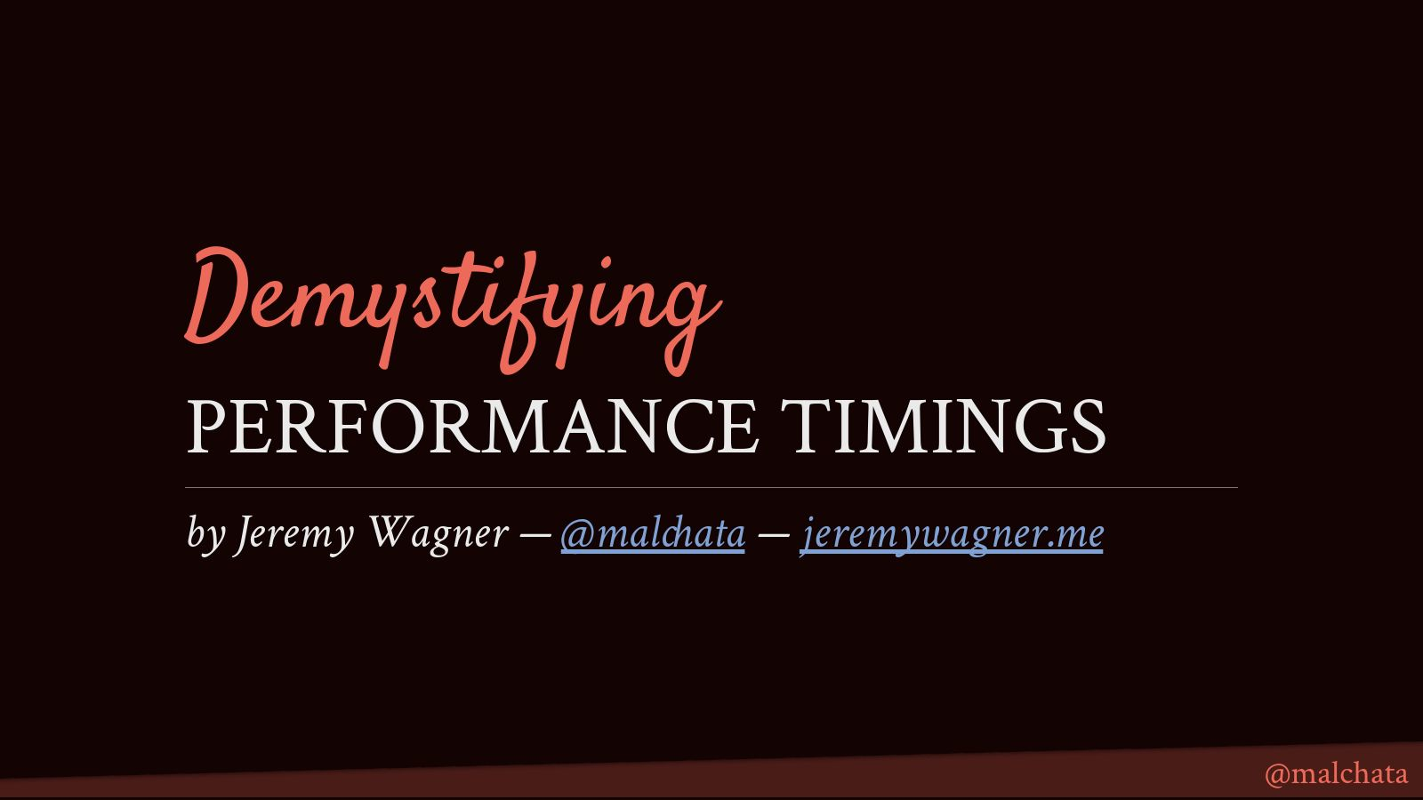 Demystifying Performance Timings