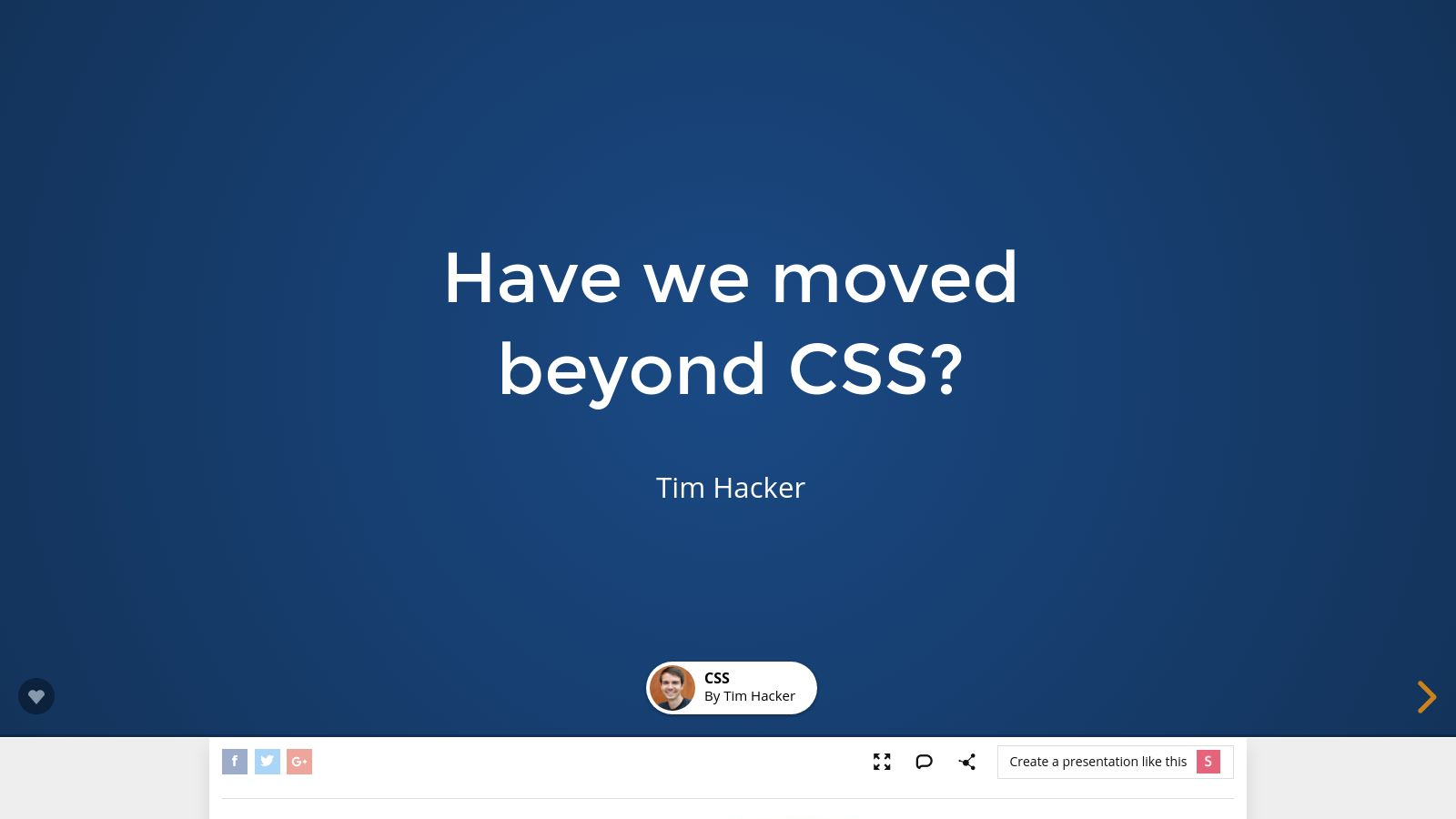 Have we moved beyond CSS?