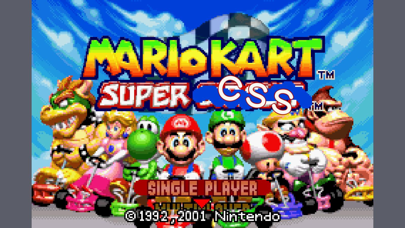 100% CSS Mario Kart