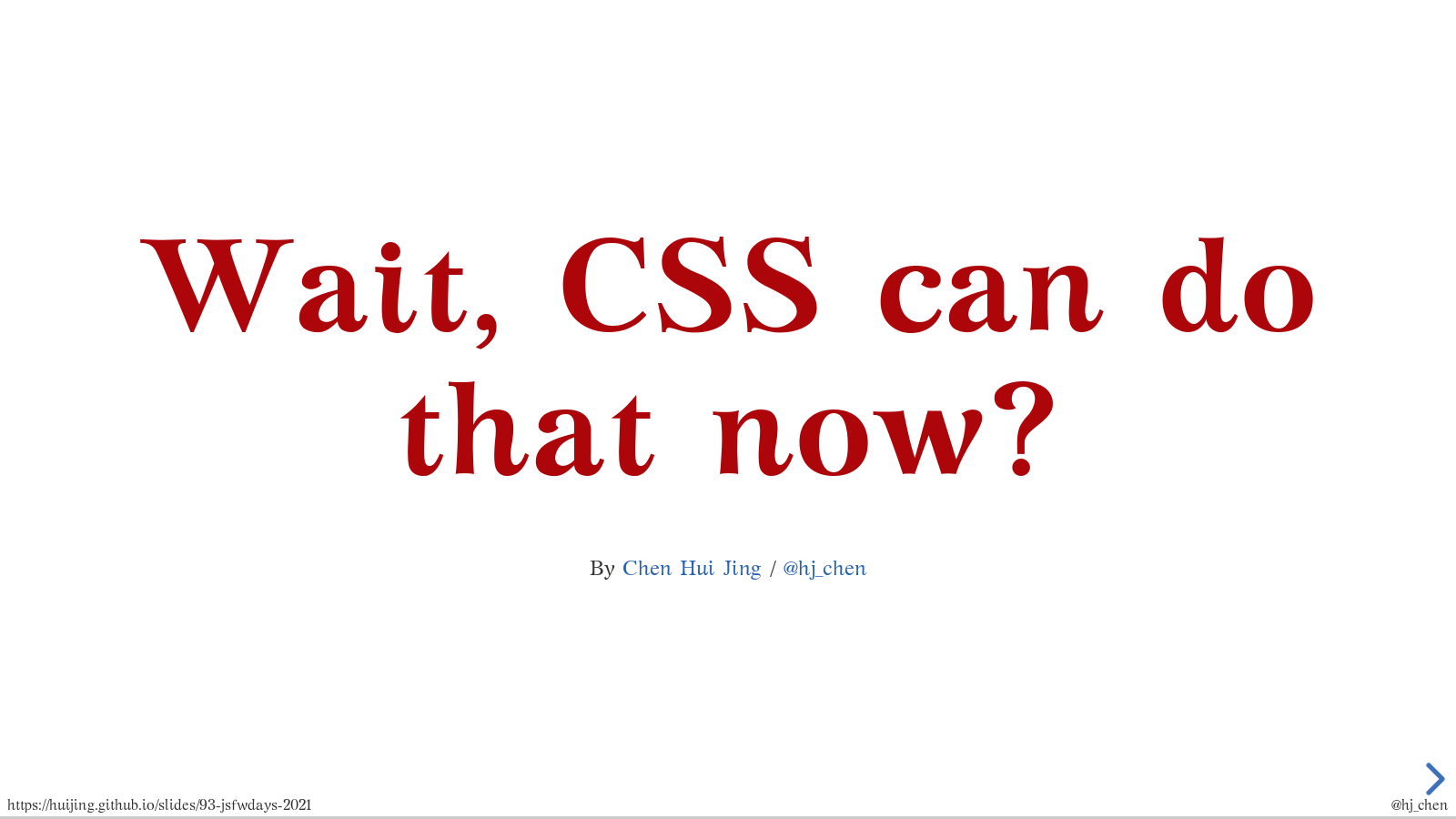 Wait, CSS can do that now?