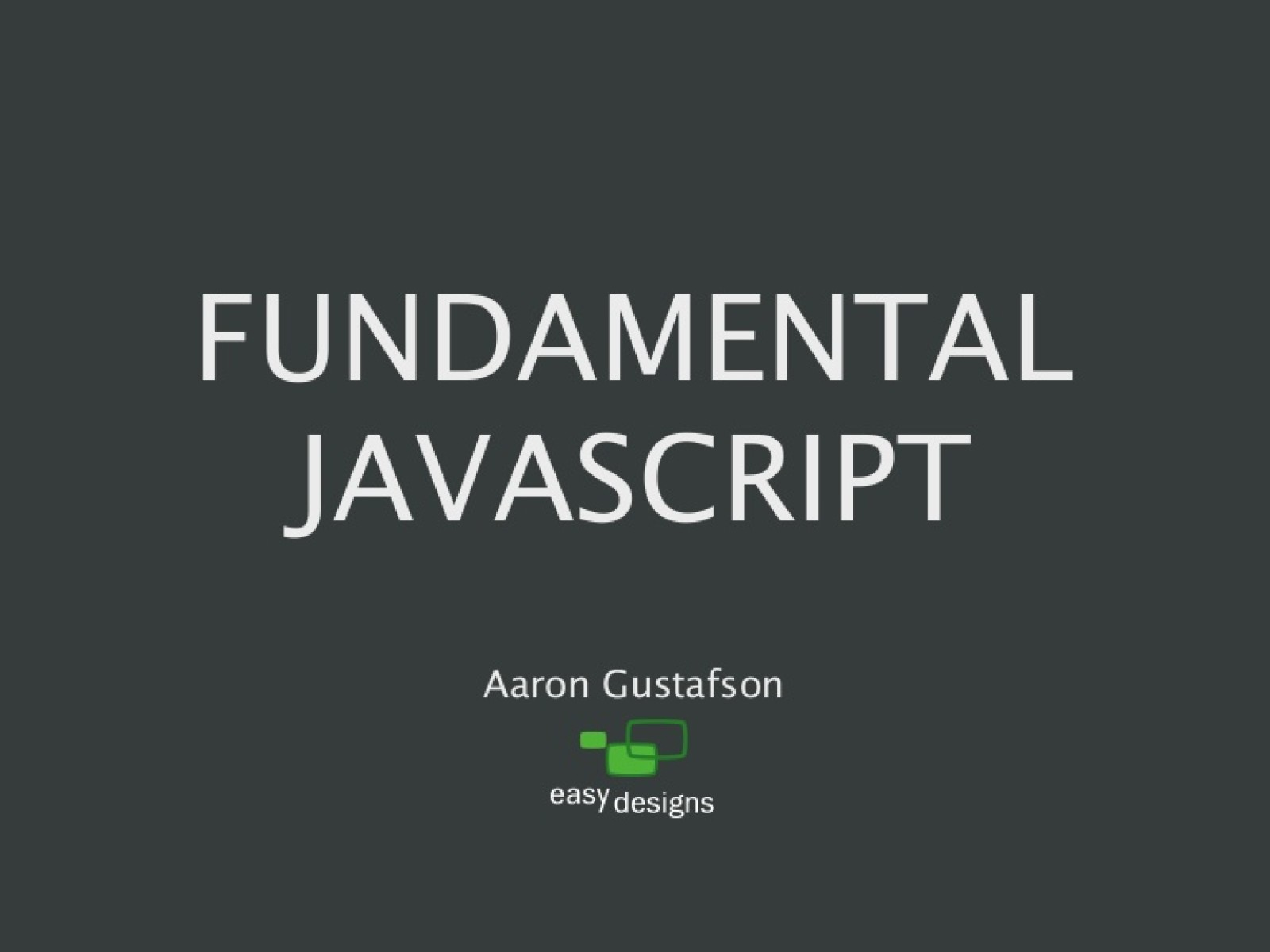 Fundamental JavaScript