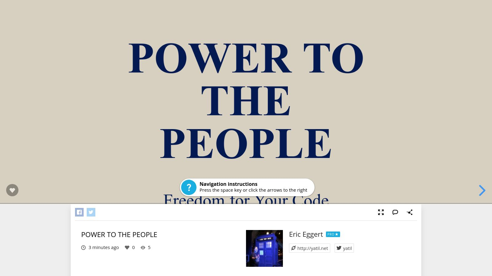 Power to the people, freedom for your code