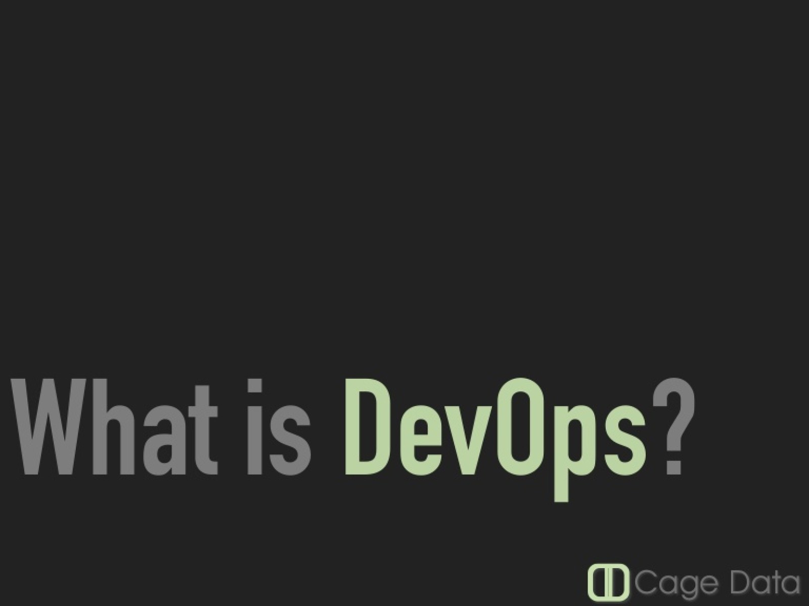 What is DevOps, AgileCT Meetup 2016-04-18