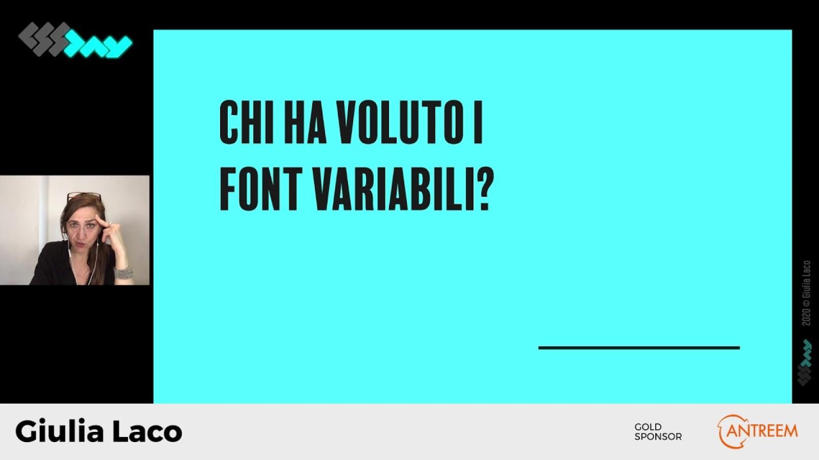 Font variabili? Sì grazie.