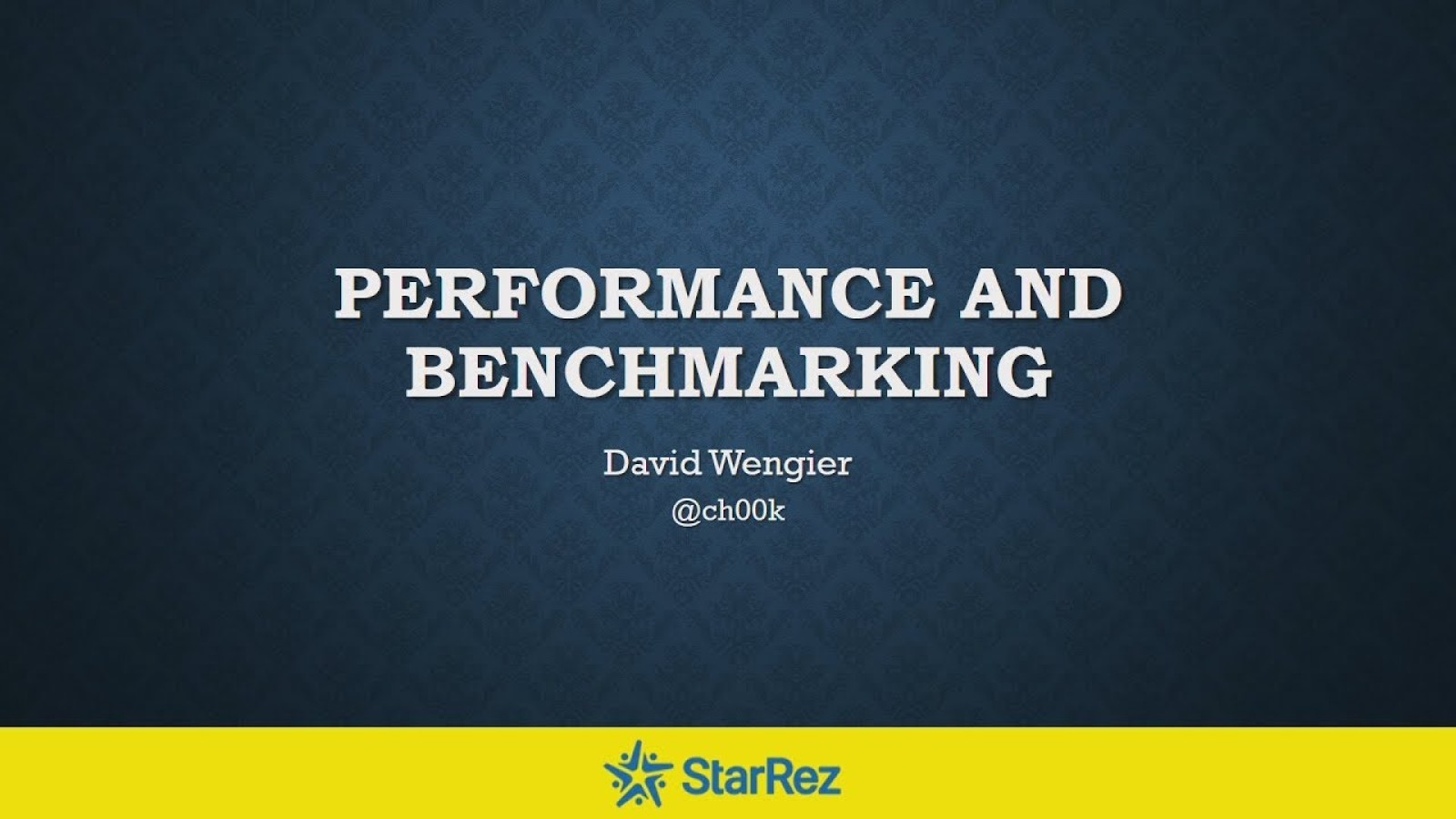 Performance and Benchmarking